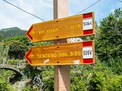 cinque terre trail sign picture