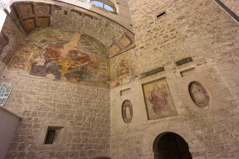 castle interior courtyard